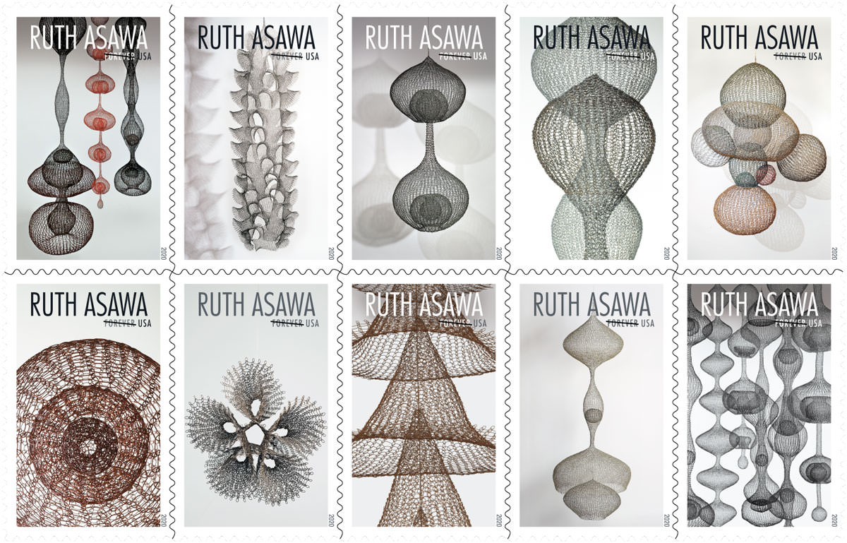 2020 Us Postal Christmas Stamps USPS Releases 2020 Ruth Asawa Stamp   Ruth Asawa